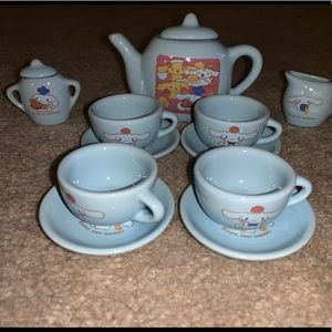 Hello Kitty Cinnamoroll Mini Porcelain Tea Set.